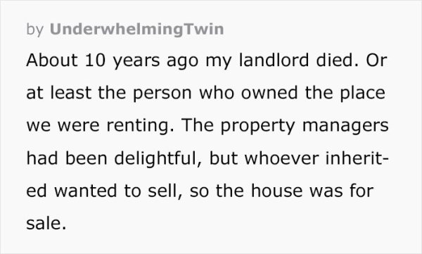 A Story About Greedy Landlord