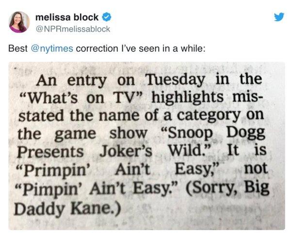 Headline Corrections