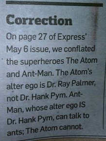 Headline Corrections