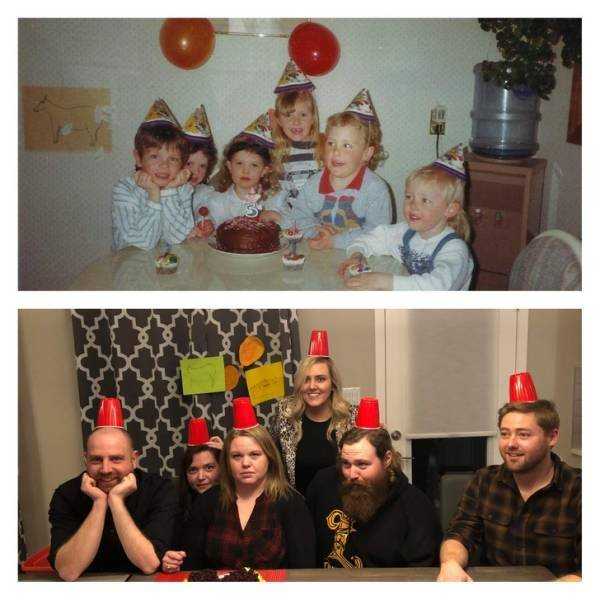 Family Photos: Then And Now