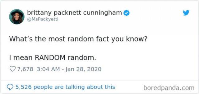 Random Facts, part 7