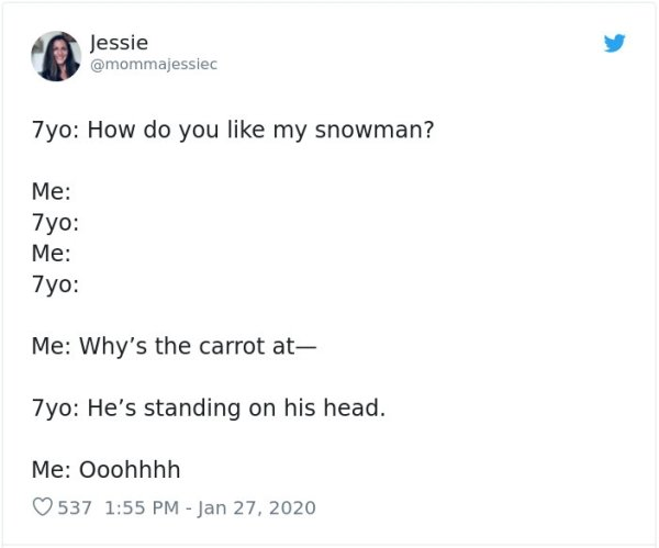Crazy Thoughts Of 7-Year-Olds