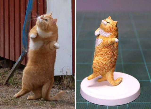 Japanese Artist Turns Funny Animals Into Sculptures