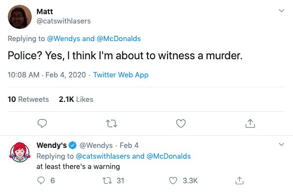Wendy's Vs. McDonald's