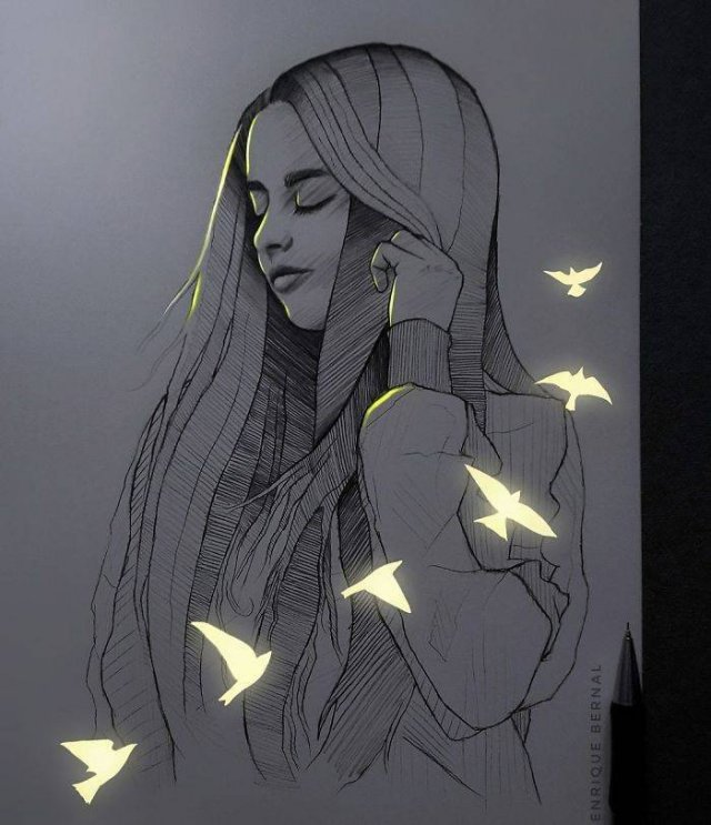 Glowing Art By Enrique Bernal
