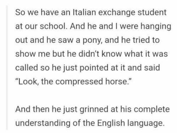 English Language Is Hard