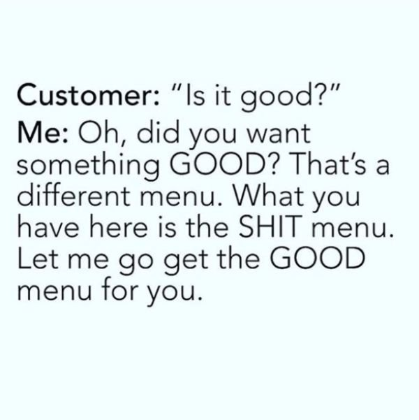 Service Industry Memes