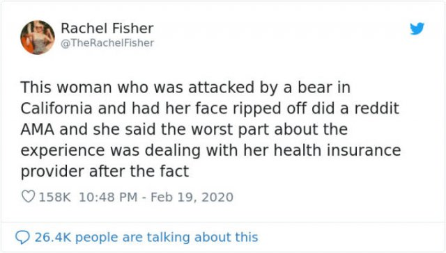 Bear Attack: Woman Tries To Get Her Health Insurance