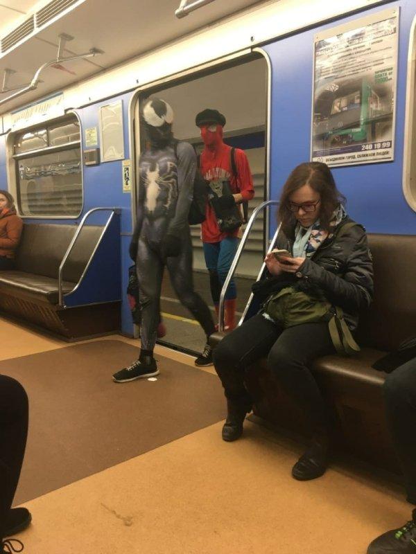 Strange Subway Passengers