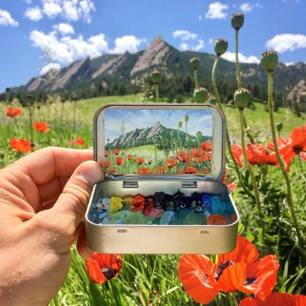 Mini Plein Air Paintings By Remington Robinson