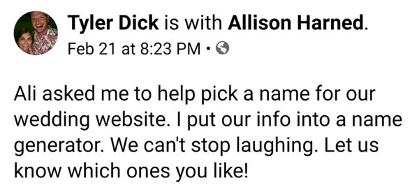 Don't Use Name Generator For Your Site If Your Name Is Tyler Dick