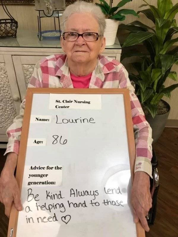 Old People Share Advices For Younger Generations