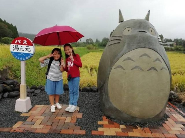 Japanese Elderly Couple Created A Real-Life Totoro Bus Stop