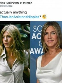 #ColderThanJenAniston'Nipples Tweets