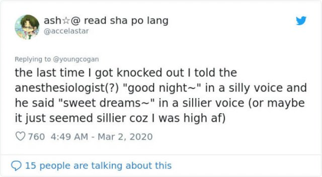 People Share Their Anesthesia Experience
