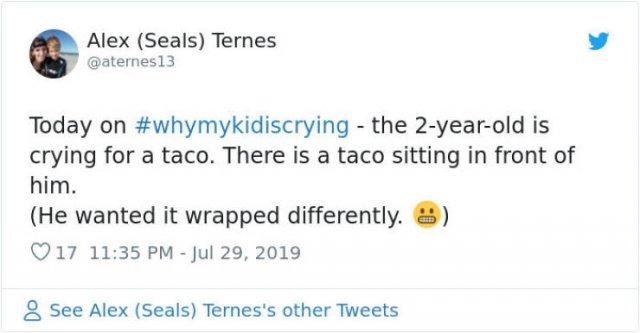 #WhyMyKidIsCrying Tweets