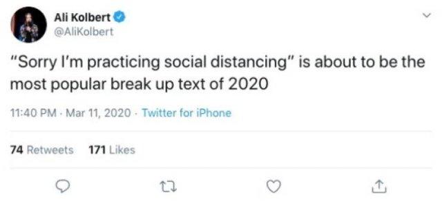 Quarantine Dating Tweets