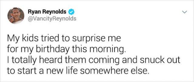 Ryan Reynolds' Tweets