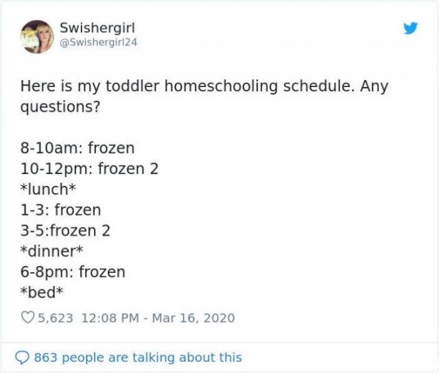 Parents Do Their Best To Homeschool Children During Quarantine