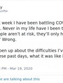 Guy Shares His Experience Of Coronavirus