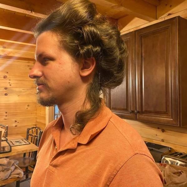 Insane Hairstyles: Girl Practices On Her Boyfriend During Quarantine