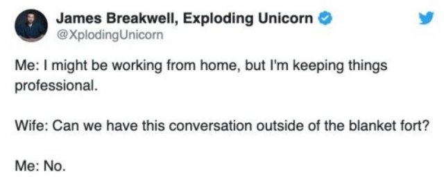 Quarantined Married Life Tweets