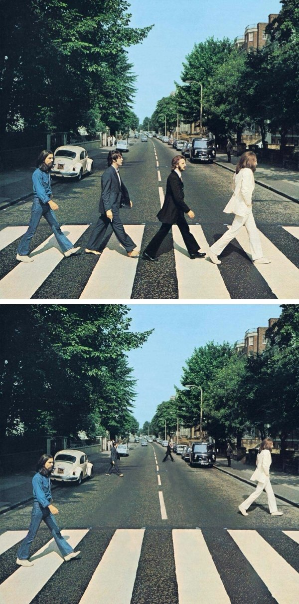 Social Distancing On Famous Album Covers