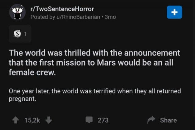 Two Sentence Horror
