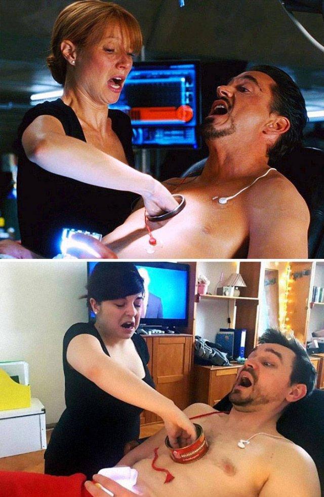 Couple Recreate Famous Movie Scenes