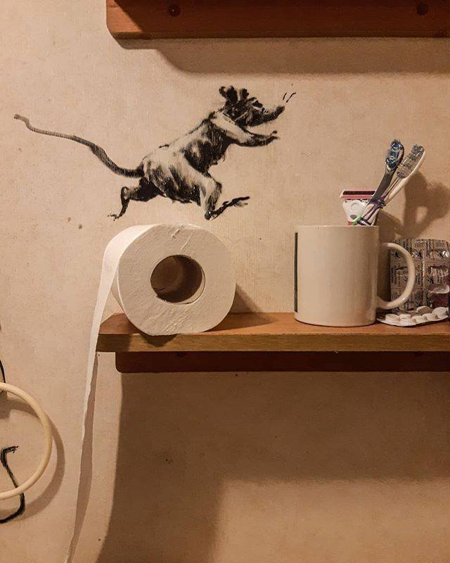 How Banksy Works From Home