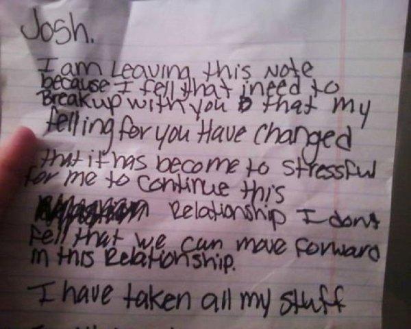 Breakup Kids Letters
