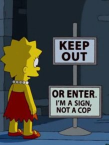 "Funny Signs From ""The Simpsons"""