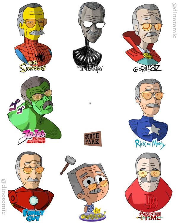If Famous People Were Cartoon Characters