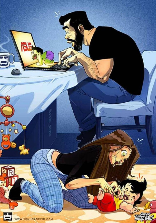 Everyday Life With Child Illustrated By Jude Devir