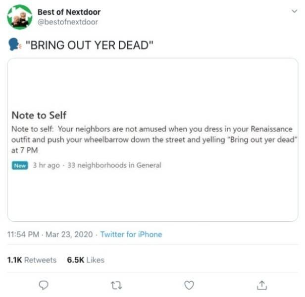 #BestOfNextdoor Tweets