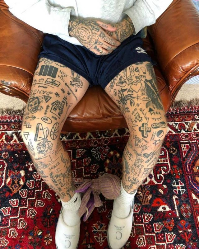 This British Guy Adds A New Tattoo Every Day Until Quarantine Ends
