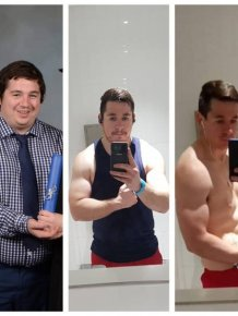 Men Show Their Great Weight Loss