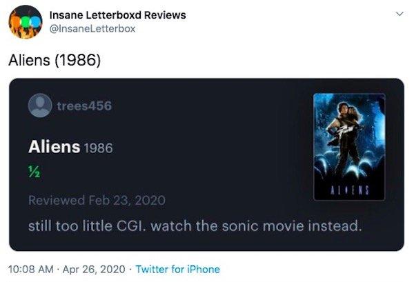 Letterboxd Fan Movie Reviews