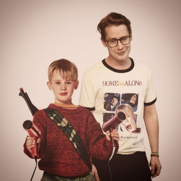 Celebrities Posing With Their Younger Selves