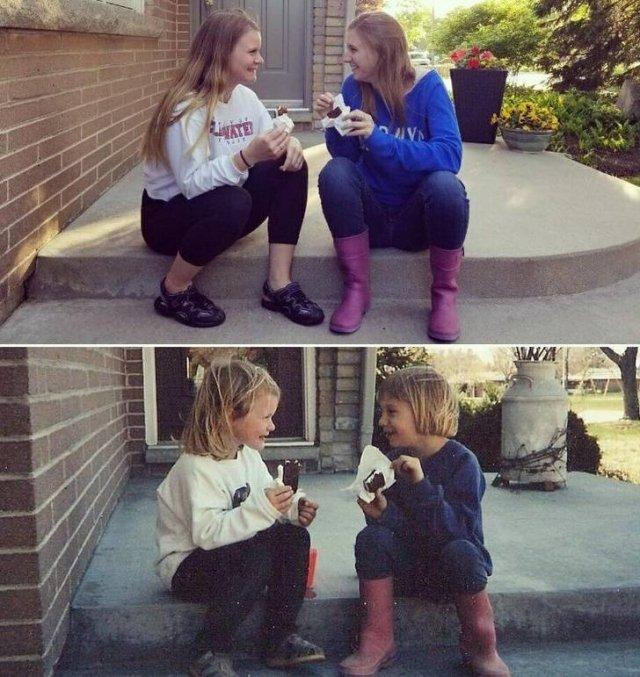 Childhood Photo Recreations, part 2