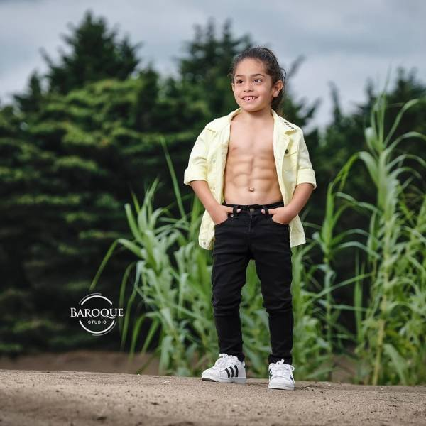 Strong 6-Year-Old Iranian Boy