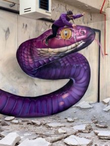 3D Street Art By Scaf Oner