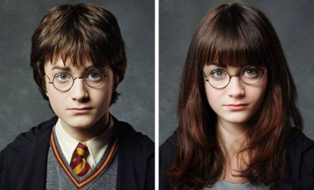 Celebrities And Movie Characters After A Gender Swap Filter