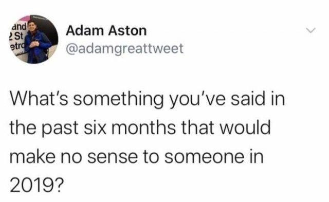 'No Sense In 2019' Tweets