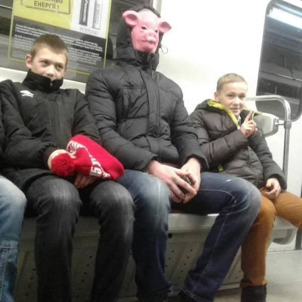 Weird Subway Passengers