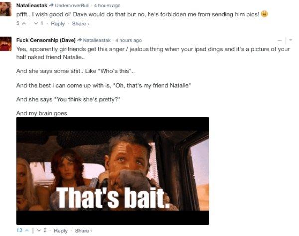 Sarcastic Comments, part 17