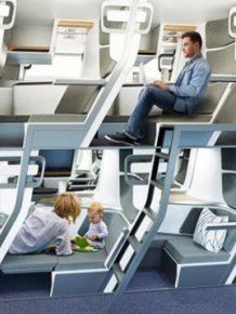 New Design Of Economy Class Airplane Seats