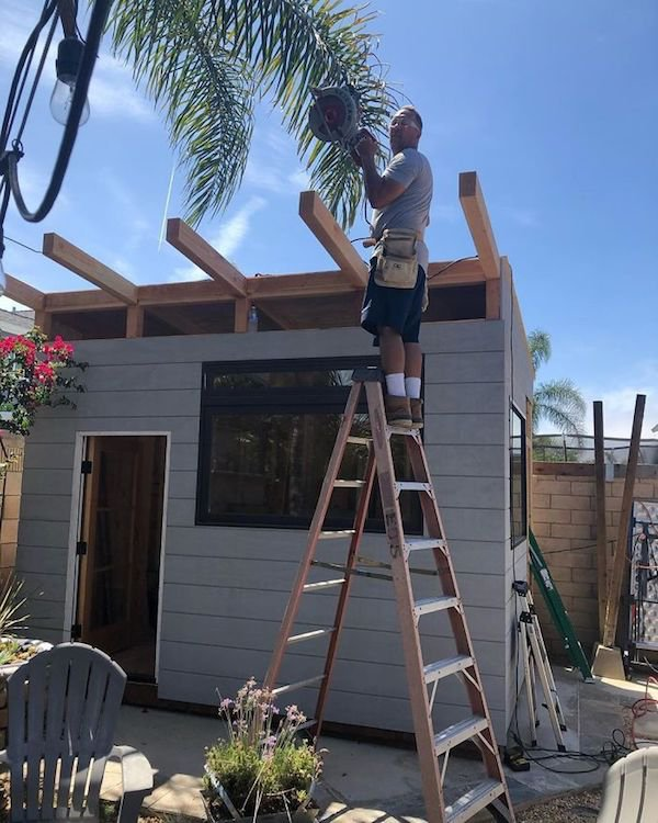 Dad Built Amazing Backyard Coffee Shop