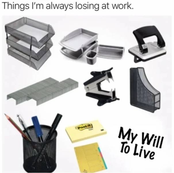 Memes And Pictures About Work