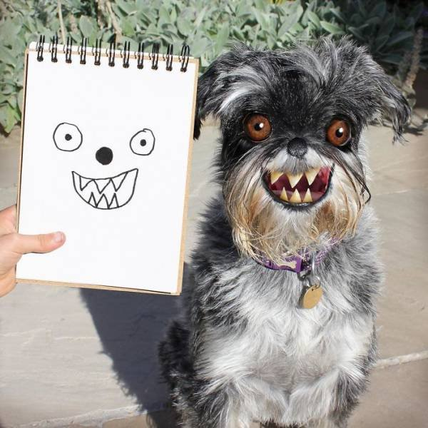 Dad Photoshopped Kids' Drawings